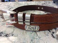 Men's Brown Lizard Skin Belt Arizona State University with Asu Conchos 32 Imr