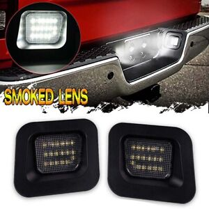 Smoked LED License Plate Rear Bumper Lights for Dodge Ram 1500 2500 3500 2003-18