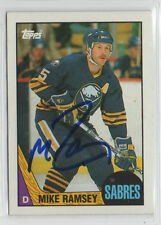 Mike Ramsey 1987 Topps signed autographed card Buffalo Sabres