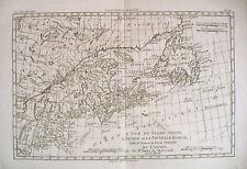 1780 Genuine Antique map Se Coast of Canada by Bonne