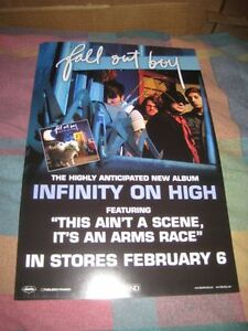 FALL OUT BOY-(infinity on high)-11X17 POSTER-MINT-RARE