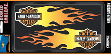HARLEY DAVIDSON DOMED SIDE FLAME DECAL  9 INCH PAIR HARLEY DECAL