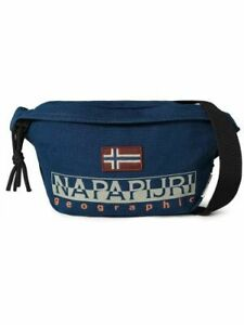 Napapijri Men's Hering Waist Bag in Blue - Polyester & Acrylic - One Size