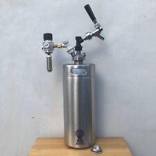 Mini Barril de Cerveza 4L Growler Acero Inoxidable Grifo Bola Traba Regulador