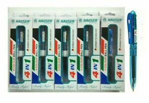 10x Hauser 4IN1 COLOUR Ball Pen | Smooth writing | Broad body