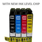 4PK Replacement Epson 200 Ink Cartridge for Expression Home XP-200 XP-300 XP-400