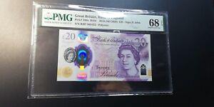 2018 Great Britain £20 P-396a PMG 68 EPQ Superb Gem UNC