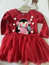Baby Girls Christmas Dress NEXT SIZE 3-6 Months Red Festive Outfit