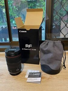 Canon RF 24-70mm f/2.8L IS USM Zoom Lens - 1-yr old, perfect cond.