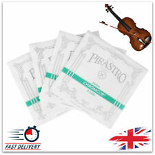 More details for violin strings 4 x e/a/d/g set string chrome steel pirastro tonica accessories