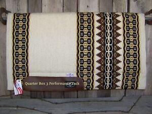 "Pad - Mesquite Wool Top, Felt with Fleece Lining (1"" x 33 x 38) - Cream"