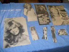 Vintage Farrah Fawcett  Photos from  Magazine sheets clips... various nice  / f2