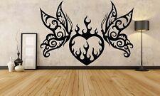 Wall Room Decor Art Vinyl Sticker Mural Decal Butterfly Love Heart Flame FI1093