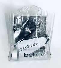 BEBE Branded BEACH SET•Clear Tote Bag•Straw Beach Mat•Water Bottle•Beach Ball
