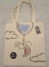 Disney Piglet Canvas Tote Shopping Bag NEW. Reusable. 100% Cotton