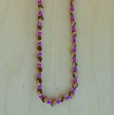 "32"" Bright Purple Navajo Ghost/Cedar Beads Necklace Juniper Berry by L. Bitsoie."