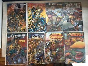 Image Comics Mini Series(4) Crypt 1,2, Freak Force 1,2, Combat 1,2, Black&White