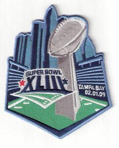 2009 NFL Super Bowl 43 XLIII Jersey Media Patch Pittsburgh Steelers Cardinals