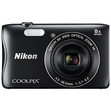 Nikon Coolpix S3700 Digital Camera - Black