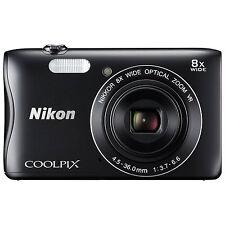 Nikon Coolpix S3700 Digital Camera - Black