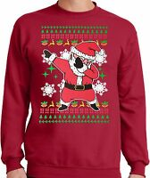 PubliciTeeZ Big and Tall King Size Dabbing Santa Ugly Christmas Sweater