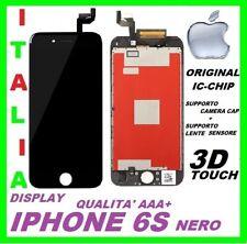 IPHONE 6s LCD SCHERMO DISPLAY ORIGINALE RETINA TOUCH SCREEN VETRO FRAME NERO