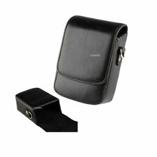 Leather Camera Compact Cases/Pouches with Strap for Sony