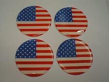 60 mm (U9) lega ruota centro centro distintivi USA stelle strisce bandiera
