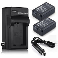 2x NP-FW50 Battery + Charger For Sony NEX-3 NEX-5 NEX-6 Alpha 7R A35 A55 A6000