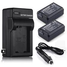 2x NP-FW50 Battery + Charger For Sony NEX-3 NEX-5 NEX-6 Alpha 7R A35 A55 A6000