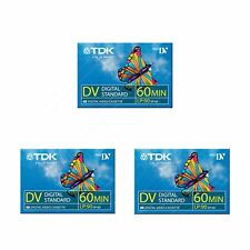 3 TDK Mini DV 60 Camcorder Tapes SP60 - LP90