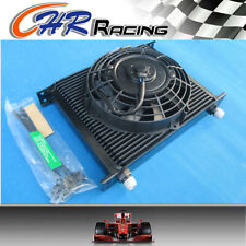 """UNIVERSAL 30 ROW OIL COOLER 7"""" ELECTRIC FAN FOR JAPAN TUNING CARS"""