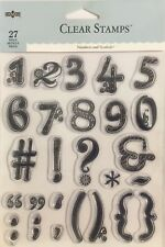 DMD NUMBERS & SYMBOLS clear stamp 27pcs