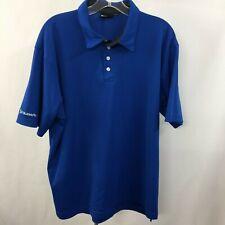 Subaru Black Label Men's Xl Blue Active Sport Golf Polo Shirt 100% Polyester