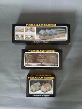 Graham Farish Scenecraft No.9504 factory, no.9502 rural cottages and tree lot