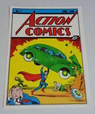 Vintage original 1970's DC Action Comics 1 Superman comic book cover art poster