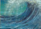 ACEO Original Painting Acrylic Seascape Ocean Huge Waves Nautical ATC Art HYMES