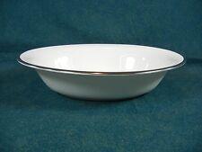 Minton Palatine H5251 White Bone China with Platinum Trim Oval Vegetable Bowl