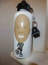 Personalised CARICATURE water drink bottle YOUR NAME and YOUR PHOTO soccer body.