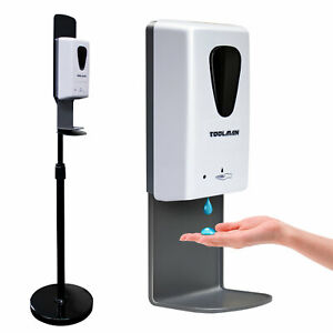Automatic Dispenser Sanitizer Hands Touchless with Floor Stand + Plug 1000ML