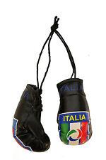 ITALIA ITALY BLACK FIFA SOCCER WORLD CUP FIGC LOGO MINI BOXING GLOVES .. NEW