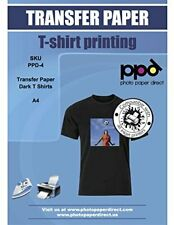 NEW PPD Inkjet T Shirt Transfer Paper A4 For Dark Fabric X 20 Sheets PPD 4 20 C