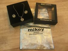 MIKEY LONDON - Costume jewellery earings and necklace set.