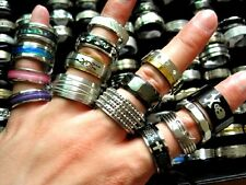 wholesale mixed 20pcs Mens Large Sizes quality stainless steel jewelry rings