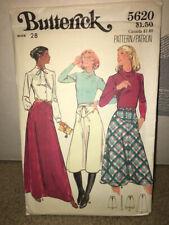 Vintage Butterick 5620 Pattern Size 28 Misses Skirt in 3 Lengths
