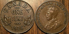 1926 CANADA SMALL 1 CENT COIN PENNY VG TO F BUY 1 OR MORE ITS FREE SHIPPING!