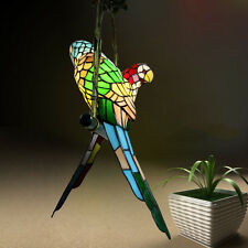 2 Parrots Stained Glass Chandelier Pendant Lamps Lighting Ceiling Fixtures Light