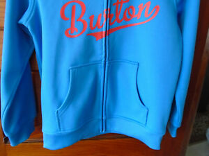 BURTON YOUTH BOY'S SIZE SMALL ZIP UP, LINED HOODED JACKET IN NEW CONDITION