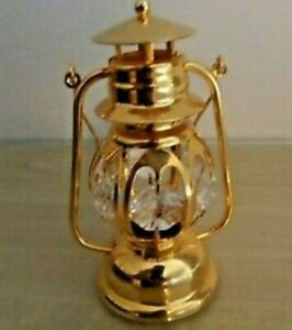 Crystal Temptations Gold Miners Lamp Very Detailed Swarovski Elements
