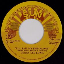 JERRY LEE LEWIS: I'll Sail My Ship Alone SUN Reissue Rockabilly 45 NM-